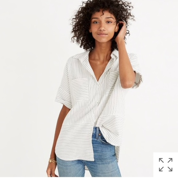 f43d1ad6 Madewell Tops - 🌞Madewell flannel courier shirt in stripe (M)